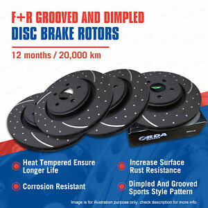 Front + Rear Slotted Disc Brake Rotors for Holden Commodore VE VF V6 06-on