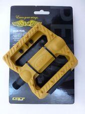 New Pair Gum Gumwall GT Universal Nylon BMX Bike Pedal Set 9/16 Chromoly Spindle