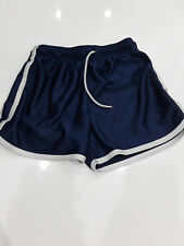 bcg athletic shorts navy blue with white trim girls sz S (7)