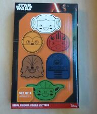 Star Wars Rebel Friends Cookie Cutters set of 6 Think Geek Chewbacca R2D2 Yoda