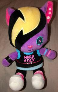 "New Hard Rock Cafe Mascot Rare Plush 7"" ROXTARS Purple Punk Kitty Cat STYLER"