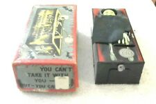 Rare Old Vintage Original Wind Up Coffin Bank W/Box Working Condition 1960's