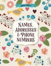 Large Print Big Font Address Book Phone Seniors Contacts Organizer Phonebook USA