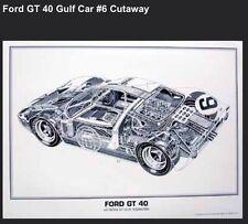 Ford GT-40 Cutaway. Artist Shin Yoshikawa/ Car Poster!!! Own It!