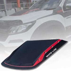 MATT MATTE BLACK RED BONNET HOOD SCOOP FOR CHEVROLET COLORADO RG MY17 2012-2021