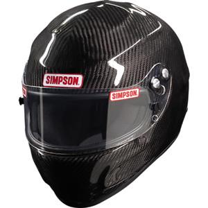 Simpson Carbon Devil Ray Helmet Snell Sa2020 Xs S M L XL Xxl Msa Hans M6 UK