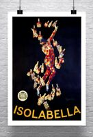 Isolabella Vintage Leonetto Cappiello Poster Rolled Canvas Giclee Print 24x34 in