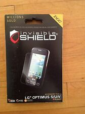 ZAGG Invisible Shield/ Screen Protector for LG Optimus S/U/V Clear