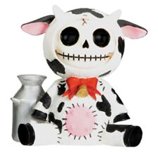 Furry Bones White and Black Moo Moo Cow Skeleton Animal Figurine