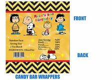 Peanuts Candy bar wrappers, Birthday, Candy bar wrappers, Snoopy
