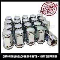 20 Lug Nuts Bulge Acorn 12x1.5 Chrome Wheel Nuts | Fits Chrysler Dodge Cars