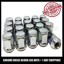 20 7/16 Chrome Bulge Acorn Wheel Nuts For Oldsmobile Chevy Buick Cadillac Cars