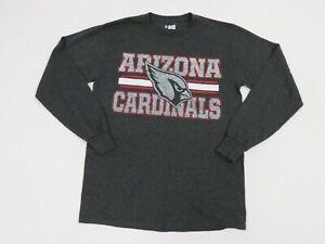 NFL Team Apparel Adult Small Gray Arizona Cardinals Long Sleeve Shirt Men