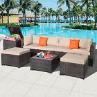 8pc Patio Pe Rattan Wicker Sets Sectional Sofa Poolside Garden Outdoor Furniture