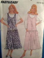 Butterick Sewing Pattern 4806 Ladies / Misses Jumper Top Size 14-18 Uncut