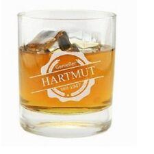 """Perso. Whiskyglas """"Emblem Genießer"""" (Namen, Datum) Whiskeybecher Herren Geschenk"""