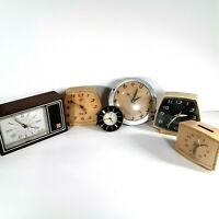 Clocks Vintage Lot of 6 Non Working for Display, Parts, Crafting or Steampunk