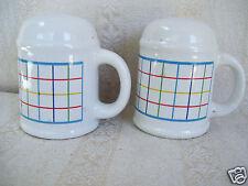 Mardi Gras Salt & Pepper Shaker Set Mug Shape With Handle