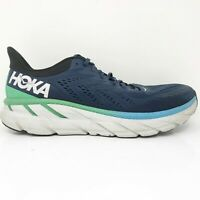 Hoka One One Mens Clifton 7 1110534 MOAN Blue Green Running Shoes Size 11.5