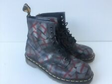 Used Women's Dr Martens Boots Uk7 EU40 St George Flag design Rare Made In Uk