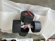 BRAND NEW ETHOS 30LB PAIR OF RUBBER  HEX DUMBBELLS WEIGHTS