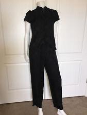 NWOT VICTORIA'S SECRET 100% Silk Short Slv Black Mandarin Collar Pajama Set Sz S