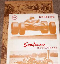 2 Vintage 60s/70's KORTUM'S PIRATES CAVE & SANDOWNER RESTAURANT Menus-AUSTRALIA