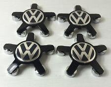 Insignia Centro De Rueda De 4 VW VOLKSWAGEN AUDI Casquillos De Estilo Cubierta Hub Todo Negro 4F0601165