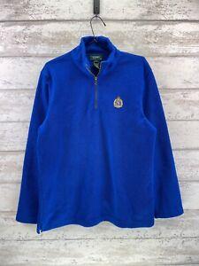 Polo Ralph Lauren Quarter Zip Jumper - Blue - Mens Large - RV63
