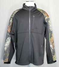 Tag Safari Outdoor Clothing Full Zip Softshell Black/Camo Jacket Men's Size 2XL