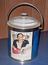 VTG TIN METAL 1931 McCALL'S MAGAZINE LIDDED ICE BUCKET DEPICTS ZANE GREY BOOK