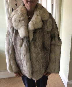 Real Fox Fur Jacket Coat