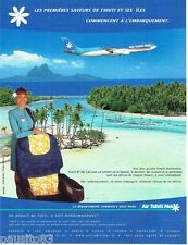 PUBLICITE ADVERTISING 116  2002  Air Tahiti Nui compagnie aérienne