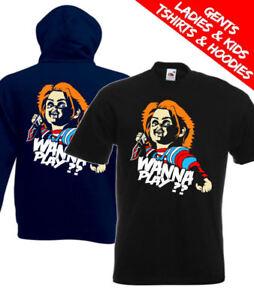 Childs Play Chucky Wanna Play Retro Horror Movie T Shirt / Hoodie