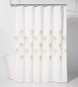 "Threshold: Yellow Stitched Sunflower Shower Curtain 72"" x 72"""