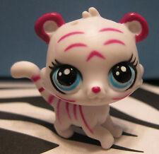Littlest Pet Shop #3764 POUNCER LITTLE Pink & White Baby Tiger