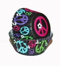 **WILTON**    Pack of 75 - Peace Signs Standard Cupcake Baking Cups!