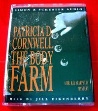 Patricia Cornwell The Body Farm Kay Scarpetta 2-Tape Audio Book Jill Eikenberry
