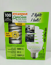 Sylvania 100w Light Bulb with LED Night Light 1600 Lumens 2700K 23w CFL