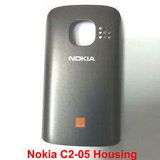 100% Genuine Original Nokia C2-05 Back Battery Cover Fascia Housing - Black