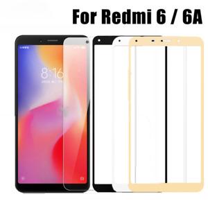 2PCS Xiaomi Redmi 6 6A Redmi 6A Full Cover Tempered Glass Film Screen Protector