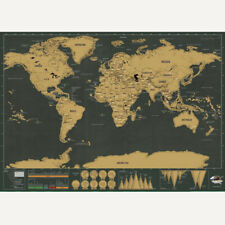 Deluxe Map of the World Poster Scratch Off Wallpaper Personalized Travel Decor