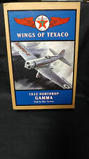 "Wings Of Texaco 2Nd In Series Gamma Diecast Airplane Bank "" Mint In Box"""