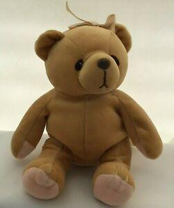 "Cherished Teddies Bear Tan Pink Paws Bow Vintage Plush 7"" Toy Lovey 1998"