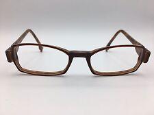 Karavan rectangular brown eyeglasses frames with inner tortoise color 50-18-145