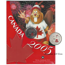2005P Canada Day Coloured 25 Cent Specimen Coin Original Mint