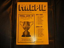 NOTTS COUNTY  V  LINCOLN CITY  (FLC)  27-10-81  FOUR PAGER