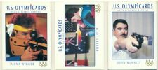 U.S. OLYMPICARDS - 1992 - SHOOTING INSERT TRADING CARD LOT - 3 CARDS - McNALLY