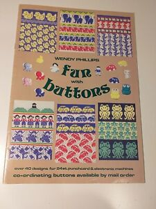 Wendy Phillips FUN WITH BUTTONS magazine over 40 designs for knitting machine