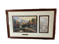 """Thomas Kinkade The Valley of Peace With A Prayer For a Little Home W/COA 21 1/4"""""""